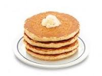 Banana Cream Protein Pancakes